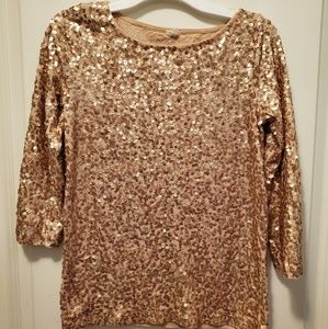 J crew sequin top